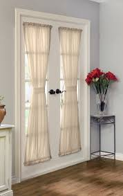 Traverse Rod Curtain Panels by Rhapsody Lined Door Panel
