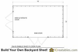 10x16 gable shed plans with taller walls