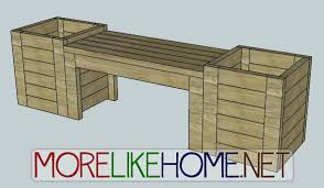 more like home day 16 build a bench and planters