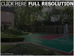 Backyards: Trendy Basketball Backyard Court. Outdoor Basketball ... Home Basketball Court Design Outdoor Backyard Courts In Unique Gallery Sport Plans With House Design And Plans How To A Gym Columbus Ohio Backyards Trendy Photo On Awesome Romantic Housens Basement Garagen Sketball Court Pinteres Half With Custom Logo Built By Deshayes