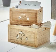 2er set holz box gingko deko kiste aufbewahrung küche geschenke vorrat kasten