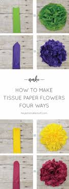 39 Easy DIY Party Decorations Tissue Paper Flowers