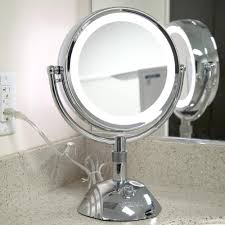 magnifying makeup mirror with light wall mounted see all 6 in x 9