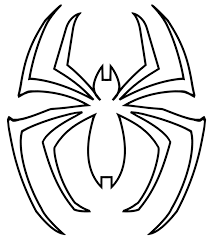 Spiderman Logo Coloring Pages Qlyview Com