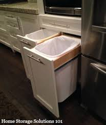 Under Cabinet Trash Can Holder by Two Tone Kitchen Traditional Kitchen Trash Cans Providence