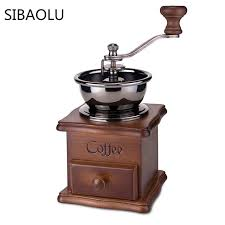 1 Pc Manual Vintage Coffee Grinder Ceramic Movement Retro Powder Adjustable Grinding Machine Mill For