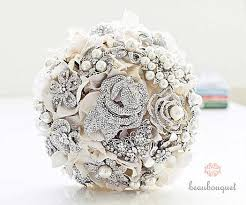 Wedding bouquet with brooches