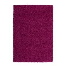 teppich hochflor einfarbig shaggy uni 300 lila rund