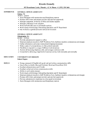 Download General Office Assistant Resume Sample As Image File