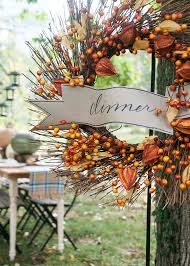 Fall Decorating Ideas For An Outdoor Dinner Party