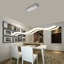 Modern Led Pendant Lamp For Living Room Acrylic Stainless Chandelier Ceiling Lights Bar
