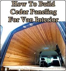How To Build Cedar Paneling For Van Interior Homesteading