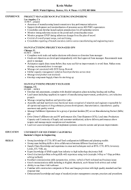 Download Manufacturing Project Manager Resume Sample As Image File
