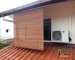Bamboo Roll Up Blinds For Patio Doors Outdoor Shades Chick Singaporei Window Ideas