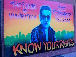 Joe Strummer Mural New York City by Doodles Saturday