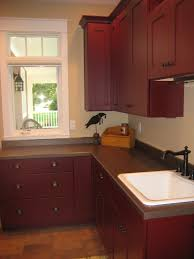 Primitive Kitchen Countertop Ideas by Laundry Room Red With Black Washer And Dryer Look Is Very Rich