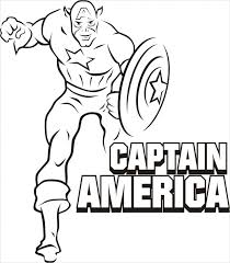 Superhero Captain America Coloring Pages