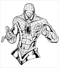 Spiderman Colouring In Pages