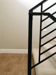 All The Details On Our New Horizontal Stair Railing! - Chris Loves ... 1000 Ideas About Stair Railing On Pinterest Railings Stairs Remodelaholic Curved Staircase Remodel With New Handrail Replacing Wooden Balusters Spindles Wrought Iron Best 25 Iron Stair Railing Ideas On Banister Renovation Using Existing Newel Balusters With Stock Photos Image 3833243 Picture Model 429 Best Images How To Install A Porch Hgtv