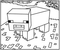 Printable Minecraft Pig Coloring Pages Games
