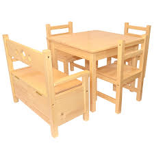 Childrens Furniture Solid Pine Set Of 5 One Table And Three Chairs ... Kids Table And Chairs In Pine Woodnatural Kids 60 X 2 Kaubystorns Table 6 Chairs Antique Stain 201 Cm Ikea Rustic Seats 10 Recycled Reclaimed Wood With Natural Ikayaa Modern 5pcs Pine Wood Ding Set Kitchen Dinette Amazoncom Hcom 5 Piece Solid High Back Pcs Wunderbar Sheesham 8 Round Grey Side Silk Decor Elegant Bench For Inspiring Bedroom Fniture 4 White Natural Sold Annika Bistro Two Noa Nani Signature Design By Ashley Grindleburg 7 Rectangular 4d Concepts Urban Loft 3piece Breakfast