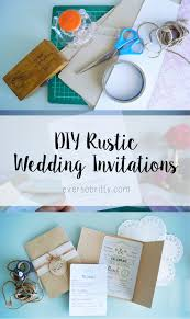My DIY Rustic Wedding Invitations