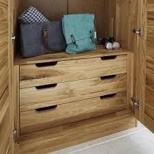 schlafzimmerschrank 2türig mit schubladen wildeiche massiv geölt kleiderschrank
