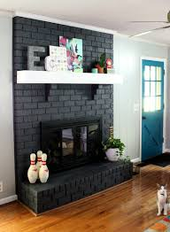 Paint Colors Living Room Red Brick Fireplace by 70s Fixer Upper Brick Fireplace Makeover Before And After Gray
