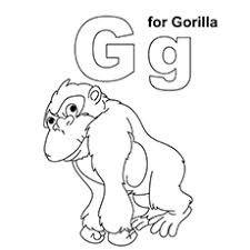 G For Gorilla Named Kala Coloring Page