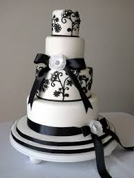 Cakebee Elegant Black White Wedding Cakes With Cake Designs