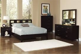 Downtown Queen Dark Brown Wooden Panel Bed Bedrooms