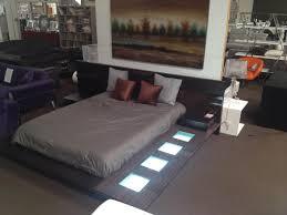 selex modern contemporary lacquer platform bed