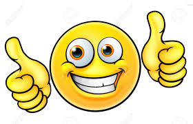 Happy Thumbs Up Emoji Emoticon On White Background Stock Vector