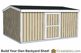 12x16 Wood Storage Shed Plans by 12x16 Short Shed Plans 8 U0027 4