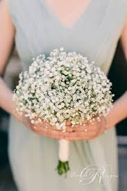 Charming Babys Breath Wedding Bouquet Ideas