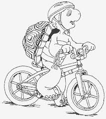 Bike Free Printable Franklin Coloring Pages