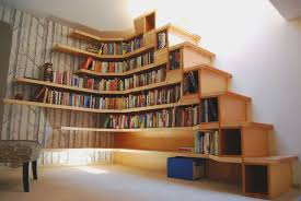 decorations wonderful brown wood wall mounted bookshelves under