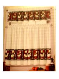 Fat Chefs Kitchen Curtains Tiers Valance Set 3 Piece Of With On A