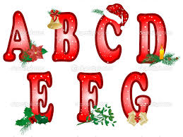 Christmas alphabet clipart letters BBCpersian7 collections