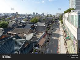 100 South Korean Houses Jeonju Korea Image Photo Free Trial Bigstock