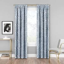 Target Blackout Curtains Smell by Eclipse Braxton Blue Curtain Target