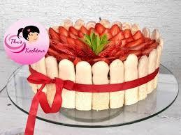 eng sub s day cake with ladyfingers muttertagstorte mit löffelbiskuit und erdbeeren