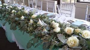 Calgary Wedding Flowers Florist Real Inspiration Reception Venue Centerpiece Head Table Dahlia Floral Design