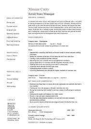 Retail Supervisor Resume Assistant Manager Sample Summary