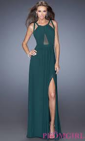 la femme long open back dress promgirl