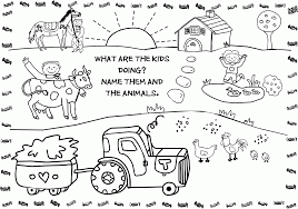 Free Farm Coloring Pages Animal
