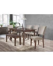 Best Master Furniture MINDY 6 Pcs Transitional Antique Natural Oak Dining Room Set