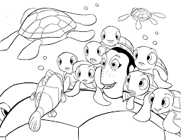 Crush Squirt Coloring Page For Finding Nemo