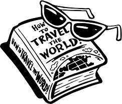 Clip Art Black And White Travel Clipart Kid
