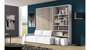 canap avec biblioth que int gr e lit escamotable canapé bilbiothèque un ensemble moderne que